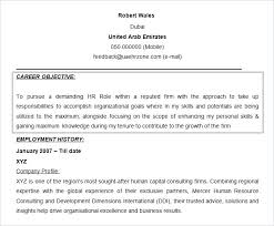 Objective Of Resume For Internship Hr Objective For Resumes Human Resource Recruiter Resume Hr 78