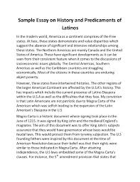 sample essay on history and predicaments of latinos sample essay on history and predicaments of latinos in the modern world