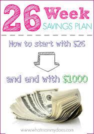Christmas Savings Plan Chart 26 Week Savings Plan Printables Start With 26 End With