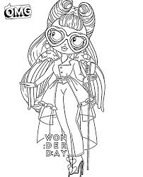 New lol omg are the older sisters of lol surprise dolls. Omg Doll Coloring Pages Coloring Home