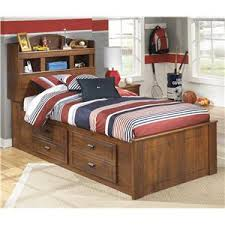 kids bed store. Contemporary Bed Signature Design By Ashley Barchan Twin Bookcase Bed With Underbed Storage Inside Kids Store I