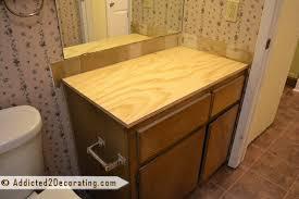 innovative creative of diy vanity top bathroom makeover day 2 my 35 diy wood countertop