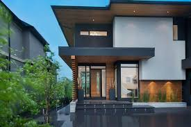 exterior office. Photo Of A Contemporary Exterior In Calgary. Office