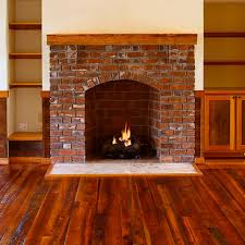 Mantel On Brick Fireplace Brick Fireplace With Wood Mantel The Best Brick