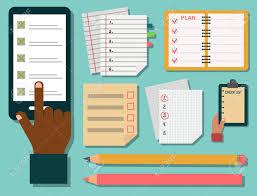 Vector Notebook Agenda Business Note Plan Work Reminder Planner
