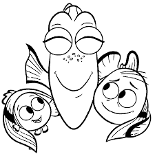 Small Picture Finding Dory Coloring Pages Wecoloringpage