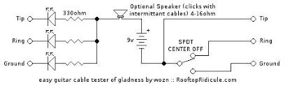 diy guitar cable tester 4 steps check out the schematic