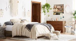 Bedroom furniture for women Luxury Bohemian Minimalist Bedroom With Layered Textures Like Woven Duvet Cover And Macrame Wall Hanging Walmart Shop Bedroom Beds Mattresses Bedding Sets More