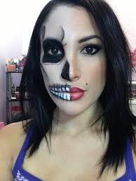 half skull half y pin up makeup tutorial you xprincessjes