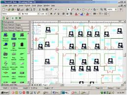 get it done microsoft visio 2000 enterprise techrepublic matthew s building floor plan pcs inserted into the drawing