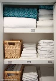 i tried to group items together in a logical way having one shelf dedicated to towels and one shelf dedicated to twin bedding for example