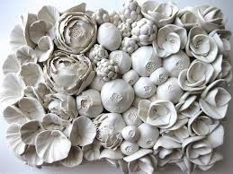 ceramic flower wall sculpture 15 from ceramic wall flowers source webneel com