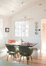 beach cottage chandelier dining room contemporary with breakfast nook breakfast nook wood planks