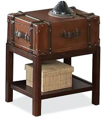 Steamer Trunk End Table Latitudes Table By Riverside Furniture Steamer  Trunk End Table Leather