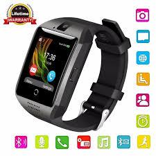 Gonoker Bluetooth Q18 Smartwatch Đồng Hồ Thông Minh Màn Hình Cảm Ứng với  Máy Ảnh Thông Minh Cổ Tay Watch Đồng Hồ Điện Thoại Di Động với Thẻ Sim DZ09  X6