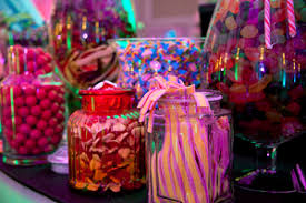 in pictures zafferano caters for charlie and the chocolate  zafferano s pick n mix bar at charlie and the chocolate factory party