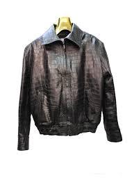 genuine handmade alligator skin men s jacket