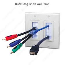 cable exit brush wall plate by vanco cableorganizer com