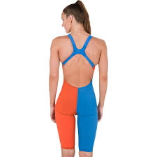 Speedo Lzr Elite Kneeskin Size Chart Speedo Lzrelite 2 Openback Kneeskin Hot Orange Bondi Blue