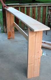 diy sofa table. Build A Sofa Table Best Inspiring Guide Handmade Skinny Oak Unfinished Narrow Rectangle Solid Wood Console Firm Legs Feature Diy