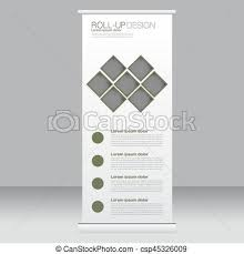 Roll Up Banner Stand Template Abstract Background For Design Business Education Advertisement