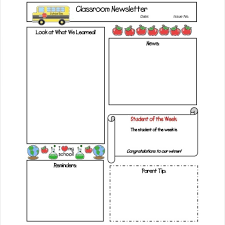 100 Teacher Newsletter Templates Classroom Newsletters And