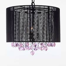 g7 b23 black 604 3 gallery chandeliers crystal chandelier chandeliers with large black shade and pink crystal hearts