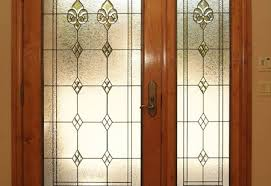 entryway stained glass door sidelights 1 large