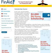 2000 No Essay College Scholarship Scholarship Scams By Finaid This Section Provides Advice