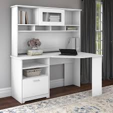 white 60 inch corner desk with hutch