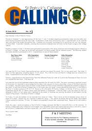 Issue 18 - Calling - (15 June 2010) by St Patricks College - issuu