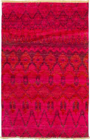 area rugs one of a kind dominquez hand knotted wool light red