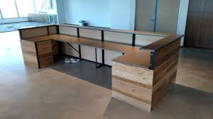 reclaimed office desk. Reclaimed Office Desk. Beautiful Wood Desk 1630 Hand Made Contemporary And Steel Reception E