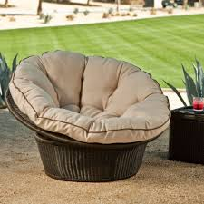 vallejo all weather wicker papasan chair with cushion