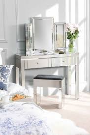 tables madison table x: madison mirrored dressing table amp pair of lucia mirrored bedside tables