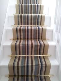 Stair runners striped carpet new ocean mist
