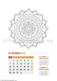 Small Picture Flower Mandala October Calendar Coloring Pages GetColoringPagesorg