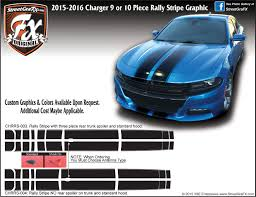 2015 2019 Dodge Charger Rally Stripe Complete Graphic Kit
