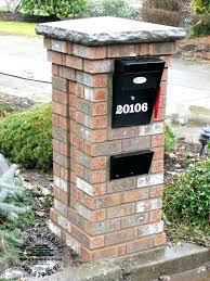 brick mailbox flag. Fine Brick Marvelous Brick Mailbox Flag  Installed Cost On Brick Mailbox Flag