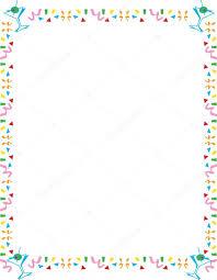 Clipart Martini Glasses Stationery Border Of Confetti And