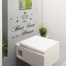 Wall Sticker Bathroom Best Seat In The House Toilet Bathroom Wall Sticker