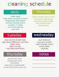 Weekly Household Cleaning Schedule Printable Weekly Cleaning Schedule Get Organized