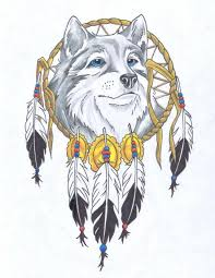 Native Dream Catchers Drawings wolf dream catcher clipart Clipground 93