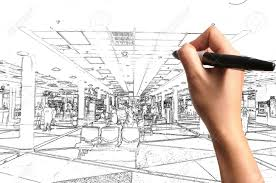 interior design hand drawings. Male Hand Drawing Building And Interior Design As Architect Plan Stock Photo - 12253186 Drawings D