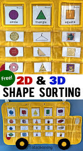 Apple Tree Pocket Chart 2d 3d Shapes Sorting Cards Apple To Zebra Pocket Chart