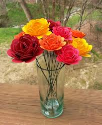 Paper Flower Bouquet In Vase Paper Flower Bouquet Large And Small Paper Mums Perfect