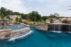 Infinity Edge Pool with Sun Ledge, Grotto, Waterfall and Floating Steps