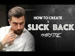 slick back hairstyle men