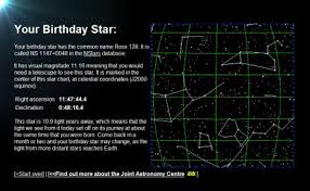 Star Chart By Birthday Birthday Star Mrreid Org