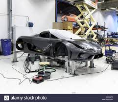 A Car Being Worked On Koenigsegg Supercar Factory Angelholm